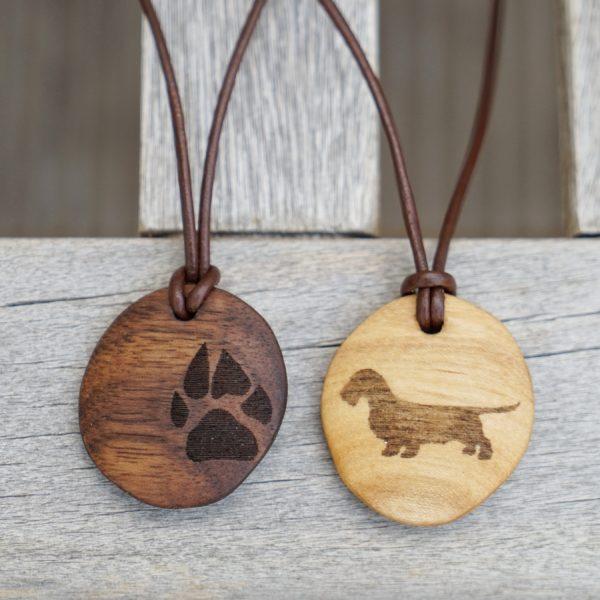 Hundepfote und Dackel Anhänger