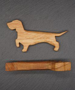 Dackel aus Holz Holzdackel