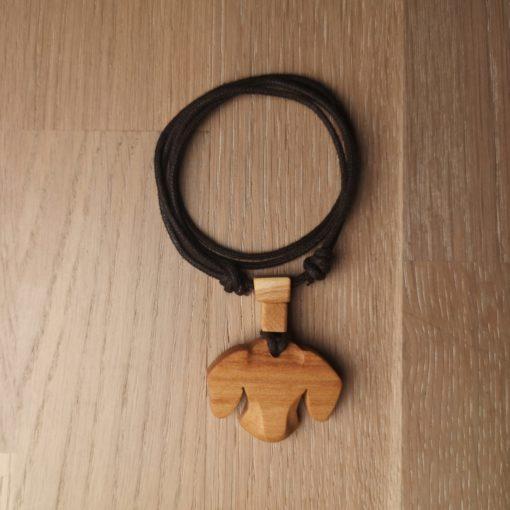 Anhänger Dackel-Kopf AhornDackel Anhänger aus Holz